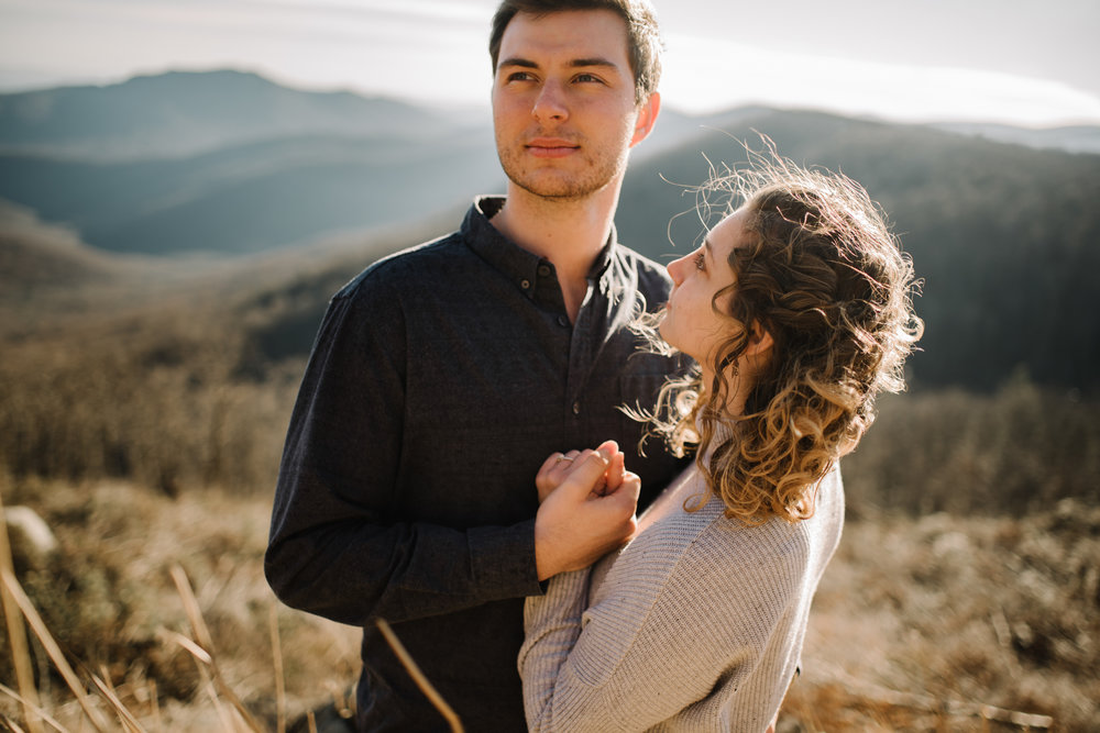 Alli and Mitchell - Shenandoah National Park Adventure Winter Engagement Session on Skyline Drive - White Sails Creative Elopement Photography_25.JPG