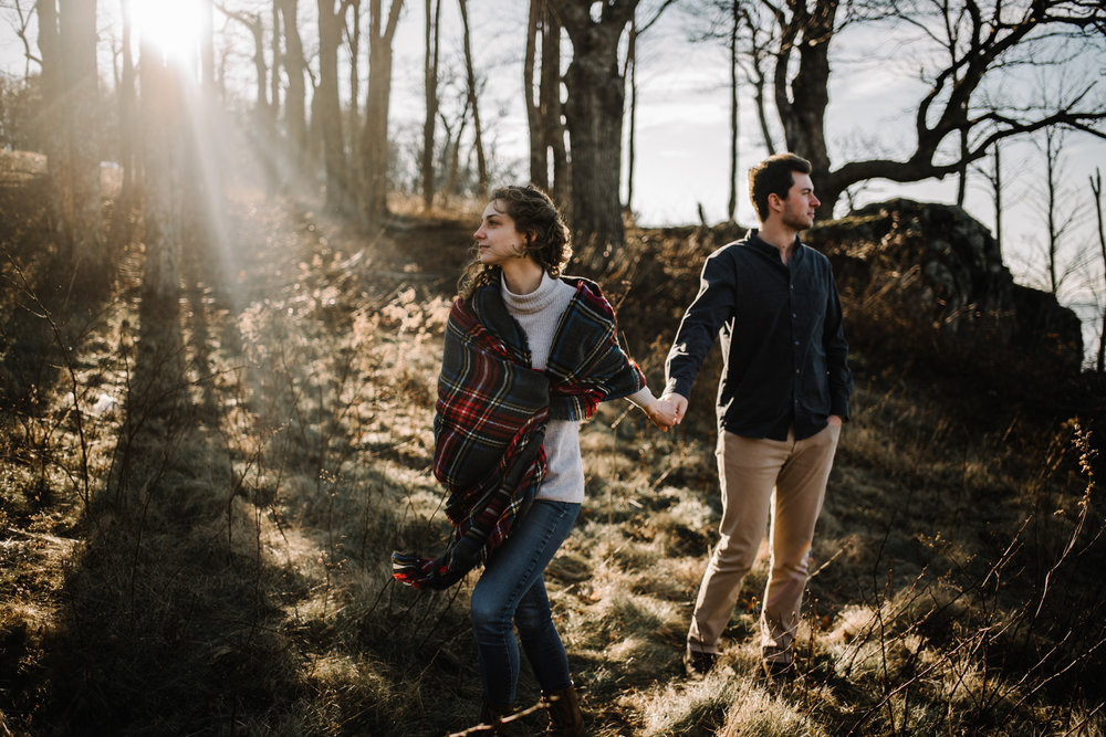 Alli and Mitchell - Shenandoah National Park Adventure Winter Engagement Session on Skyline Drive - White Sails Creative Elopement Photography_30.JPG