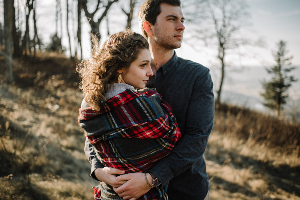 Alli and Mitchell - Shenandoah National Park Adventure Winter Engagement Session on Skyline Drive - White Sails Creative Elopement Photography_34.JPG