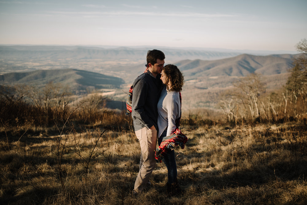 Alli and Mitchell - Shenandoah National Park Adventure Winter Engagement Session on Skyline Drive - White Sails Creative Elopement Photography_35.JPG