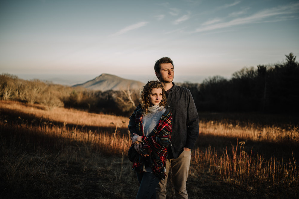 Alli and Mitchell - Shenandoah National Park Adventure Winter Engagement Session on Skyline Drive - White Sails Creative Elopement Photography_41.JPG
