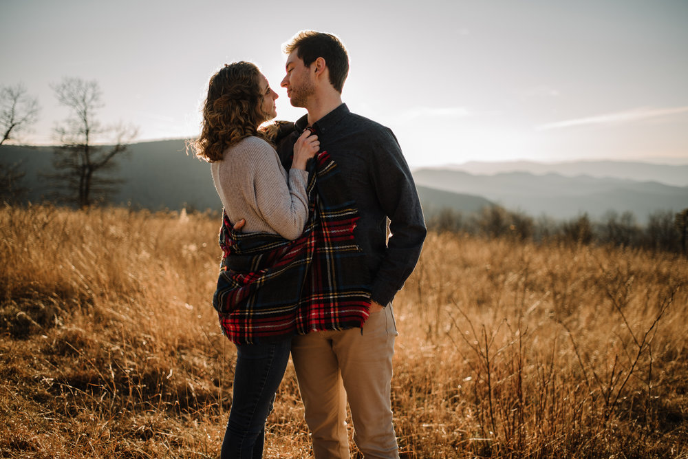 Alli and Mitchell - Shenandoah National Park Adventure Winter Engagement Session on Skyline Drive - White Sails Creative Elopement Photography_42.JPG