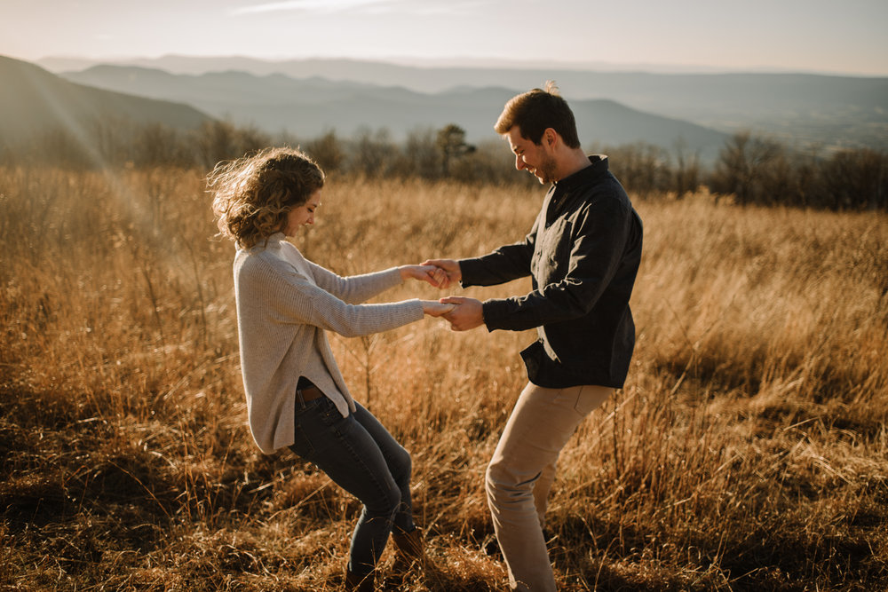 Alli and Mitchell - Shenandoah National Park Adventure Winter Engagement Session on Skyline Drive - White Sails Creative Elopement Photography_45.JPG