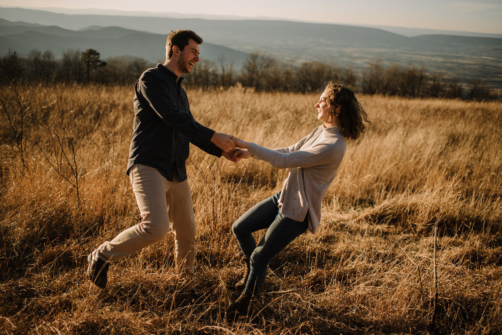 Alli and Mitchell - Shenandoah National Park Adventure Winter Engagement Session on Skyline Drive - White Sails Creative Elopement Photography_44.JPG