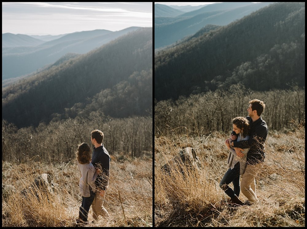 Alli and Mitchell - Shenandoah National Park Adventure Winter Engagement Session on Skyline Drive - White Sails Creative Elopement Photography_19.jpg