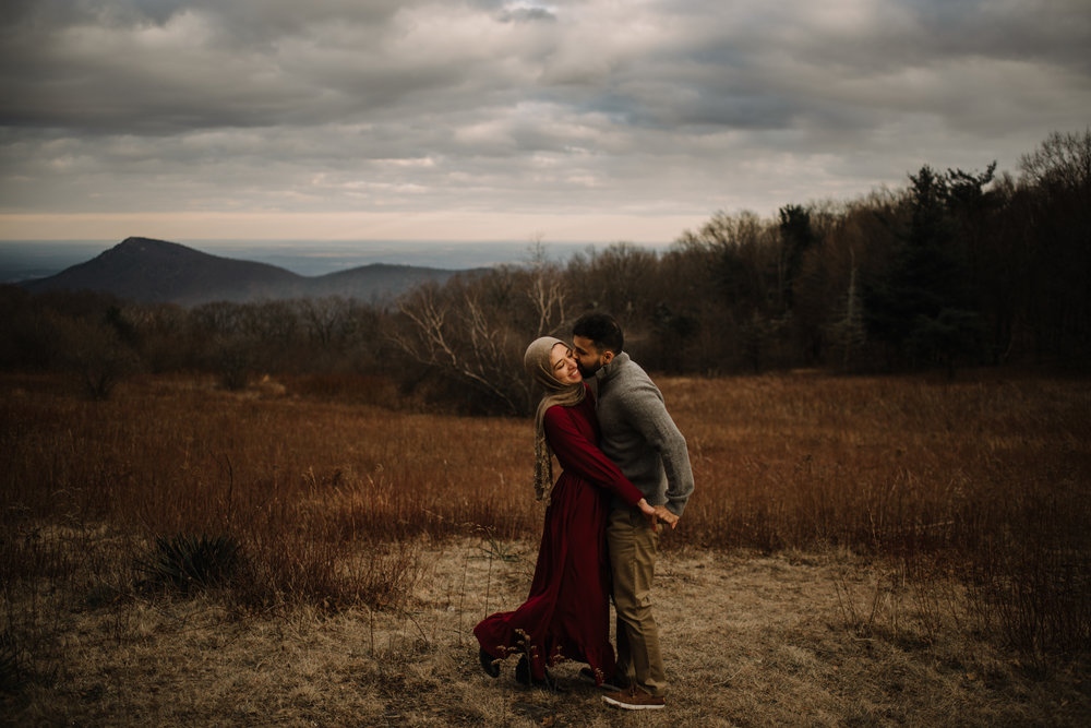 Safa and Ali - Shenandoah National Park Adventure Engagement Session - Blue Ridge Parkway - Skyline Drive - Blue Ridge Mountains - Virginia Elopement Photographer_17.JPG