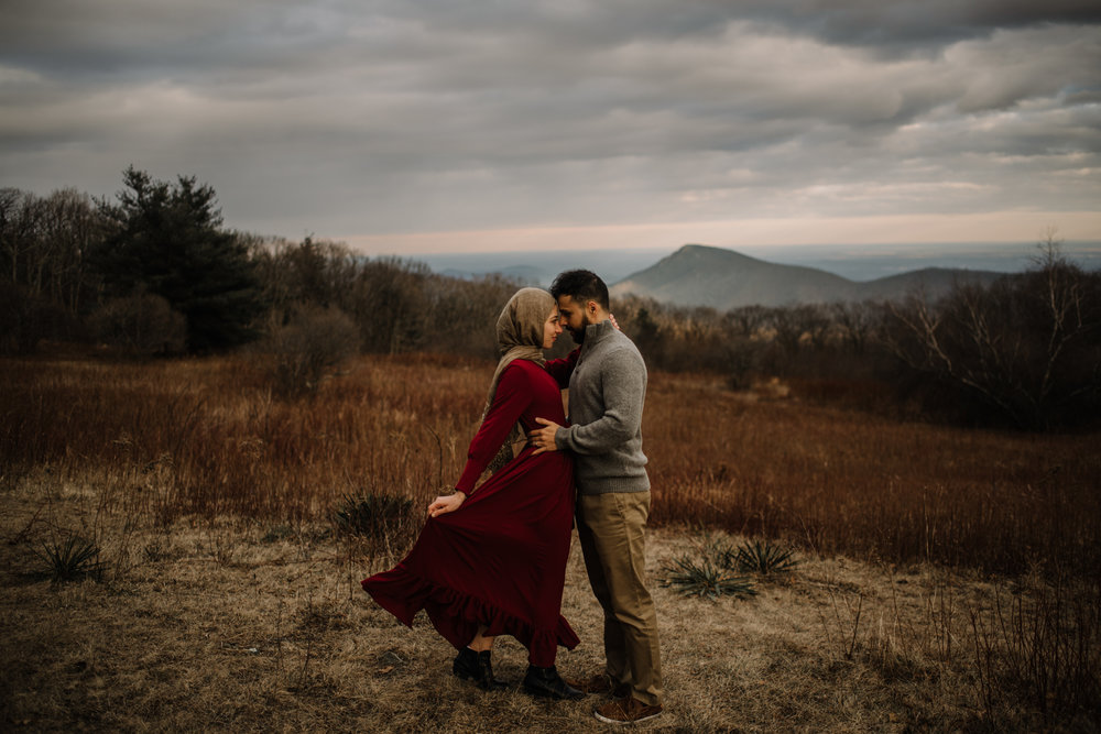 Safa and Ali - Shenandoah National Park Adventure Engagement Session - Blue Ridge Parkway - Skyline Drive - Blue Ridge Mountains - Virginia Elopement Photographer_23.JPG