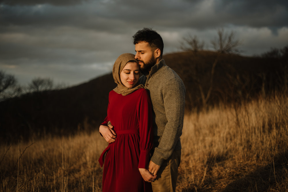 Safa and Ali - Shenandoah National Park Adventure Engagement Session - Blue Ridge Parkway - Skyline Drive - Blue Ridge Mountains - Virginia Elopement Photographer_26.JPG