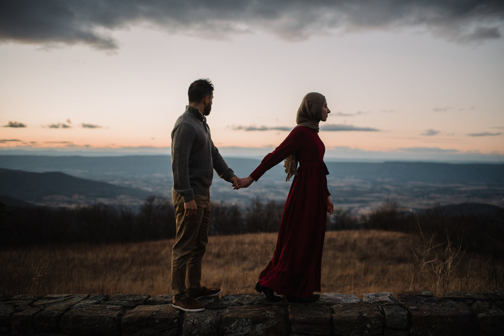 Safa and Ali - Shenandoah National Park Adventure Engagement Session - Blue Ridge Parkway - Skyline Drive - Blue Ridge Mountains - Virginia Elopement Photographer_46.JPG