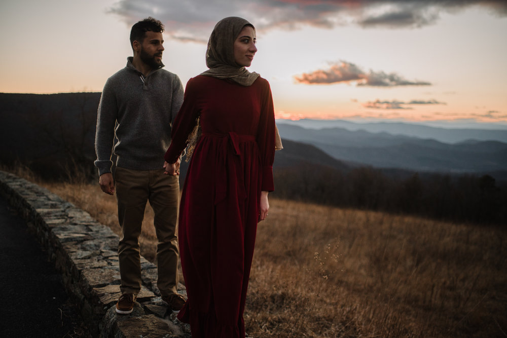 Safa and Ali - Shenandoah National Park Adventure Engagement Session - Blue Ridge Parkway - Skyline Drive - Blue Ridge Mountains - Virginia Elopement Photographer_47.JPG
