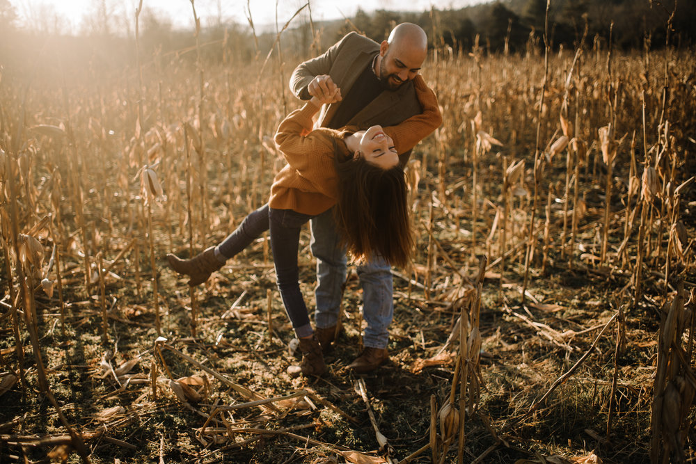 Emily and Hoyle - Shenandoah Valley Engagement Session - Winter Sunset - Downtown Old Movie Theater - Back yard Virginia Farm Wedding_8.JPG