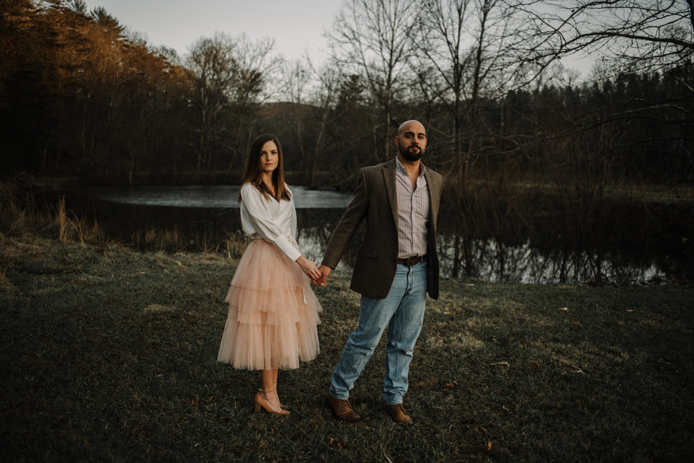 Emily and Hoyle - Shenandoah Valley Engagement Session - Winter Sunset - Downtown Old Movie Theater - Back yard Virginia Farm Wedding_30.JPG