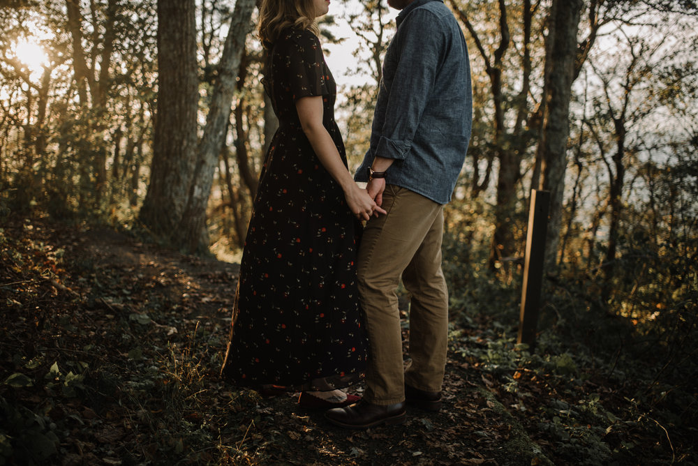 Molly and Zach Engagement Session - Fall Autumn Sunset Couple Adventure Session - Shenandoah National Park - Blue Ridge Parkway Skyline Drive - White Sails Creative_21.JPG