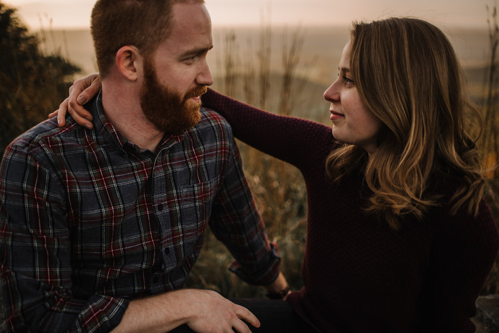 Molly and Zach Engagement Session - Fall Autumn Sunset Couple Adventure Session - Shenandoah National Park - Blue Ridge Parkway Skyline Drive - White Sails Creative_35.JPG