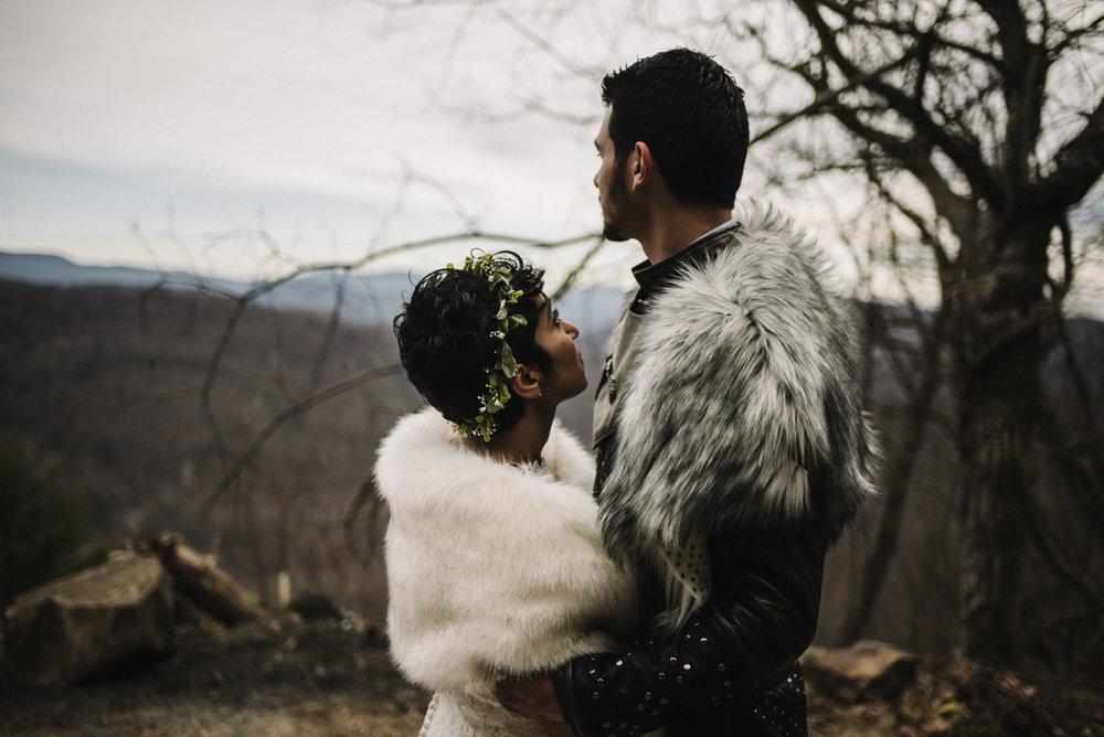 Game of Thrones Elopement - Winter Elopement - Shenandoah National Park Elopement Photographer - Virginia Adventure Photographer - Blue Ridge Parkway Elopement Photographer_29.jpg