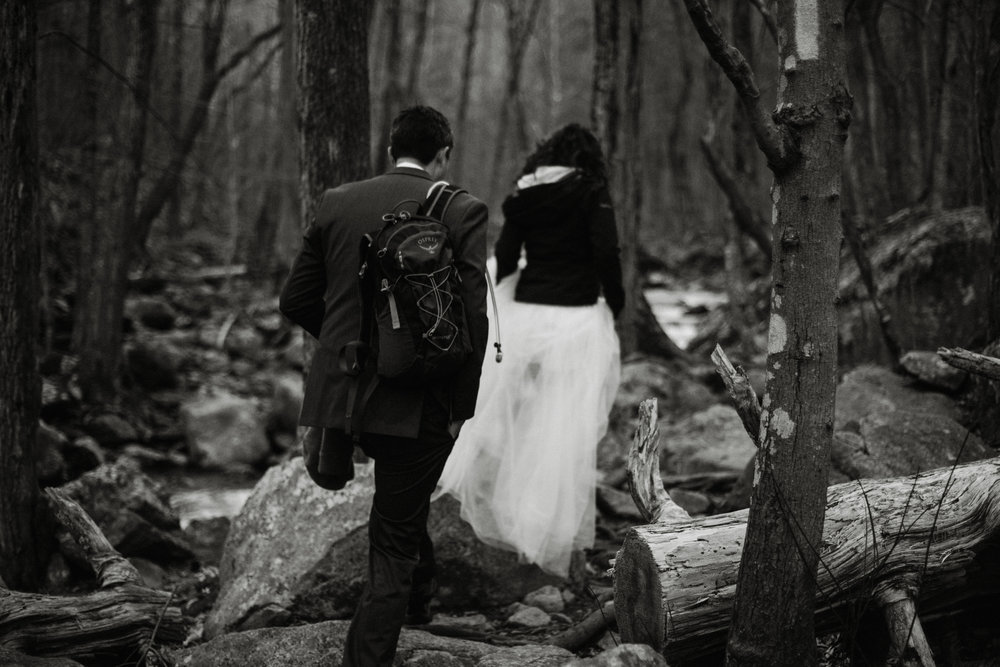 Stephanie and Steve - Shenandoah National Park Elopement - Sunrise Hiking Elopement - Adventurous Elopement - Virginia Elopement Photographer - Shenandoah national Park Wedding Photographer - White Sails Creative_1.jpg