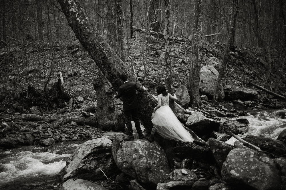 Stephanie and Steve - Shenandoah National Park Elopement - Sunrise Hiking Elopement - Adventurous Elopement - Virginia Elopement Photographer - Shenandoah national Park Wedding Photographer - White Sails Creative_3.jpg