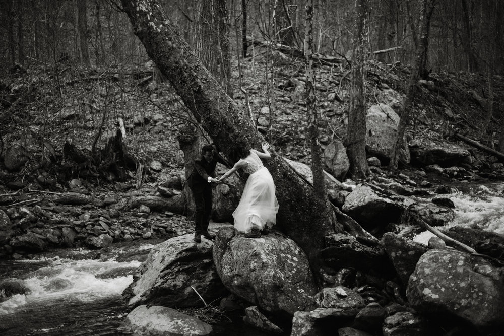 Stephanie and Steve - Shenandoah National Park Elopement - Sunrise Hiking Elopement - Adventurous Elopement - Virginia Elopement Photographer - Shenandoah national Park Wedding Photographer - White Sails Creative_4.jpg