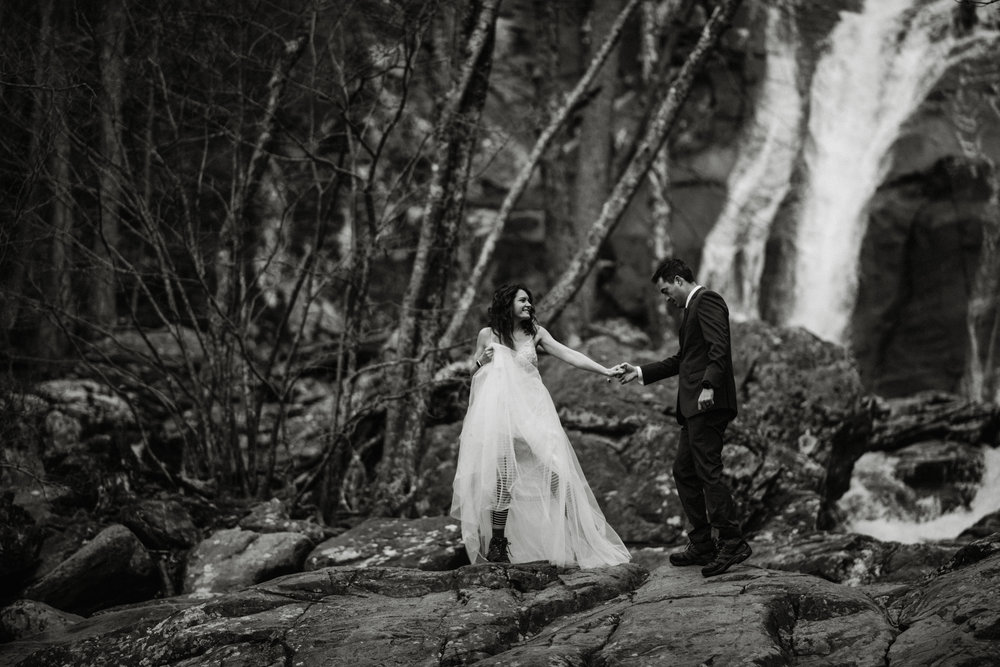 Stephanie and Steve - Shenandoah National Park Elopement - Sunrise Hiking Elopement - Adventurous Elopement - Virginia Elopement Photographer - Shenandoah national Park Wedding Photographer - White Sails Creative_9.jpg