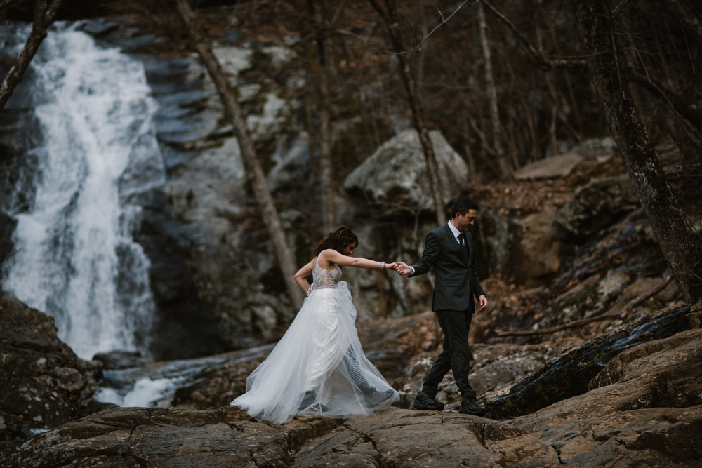 Stephanie and Steve - Shenandoah National Park Elopement - Sunrise Hiking Elopement - Adventurous Elopement - Virginia Elopement Photographer - Shenandoah national Park Wedding Photographer - White Sails Creative_18.jpg