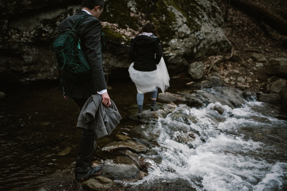 Stephanie and Steve - Shenandoah National Park Elopement - Sunrise Hiking Elopement - Adventurous Elopement - Virginia Elopement Photographer - Shenandoah national Park Wedding Photographer - White Sails Creative_19.jpg