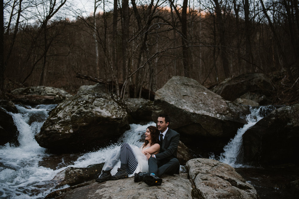 Stephanie and Steve - Shenandoah National Park Elopement - Sunrise Hiking Elopement - Adventurous Elopement - Virginia Elopement Photographer - Shenandoah national Park Wedding Photographer - White Sails Creative_28.jpg
