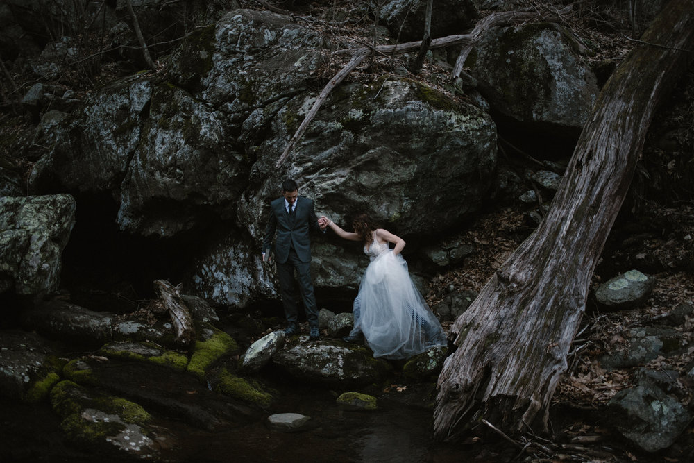 Stephanie and Steve - Shenandoah National Park Elopement - Sunrise Hiking Elopement - Adventurous Elopement - Virginia Elopement Photographer - Shenandoah national Park Wedding Photographer - White Sails Creative_31.jpg