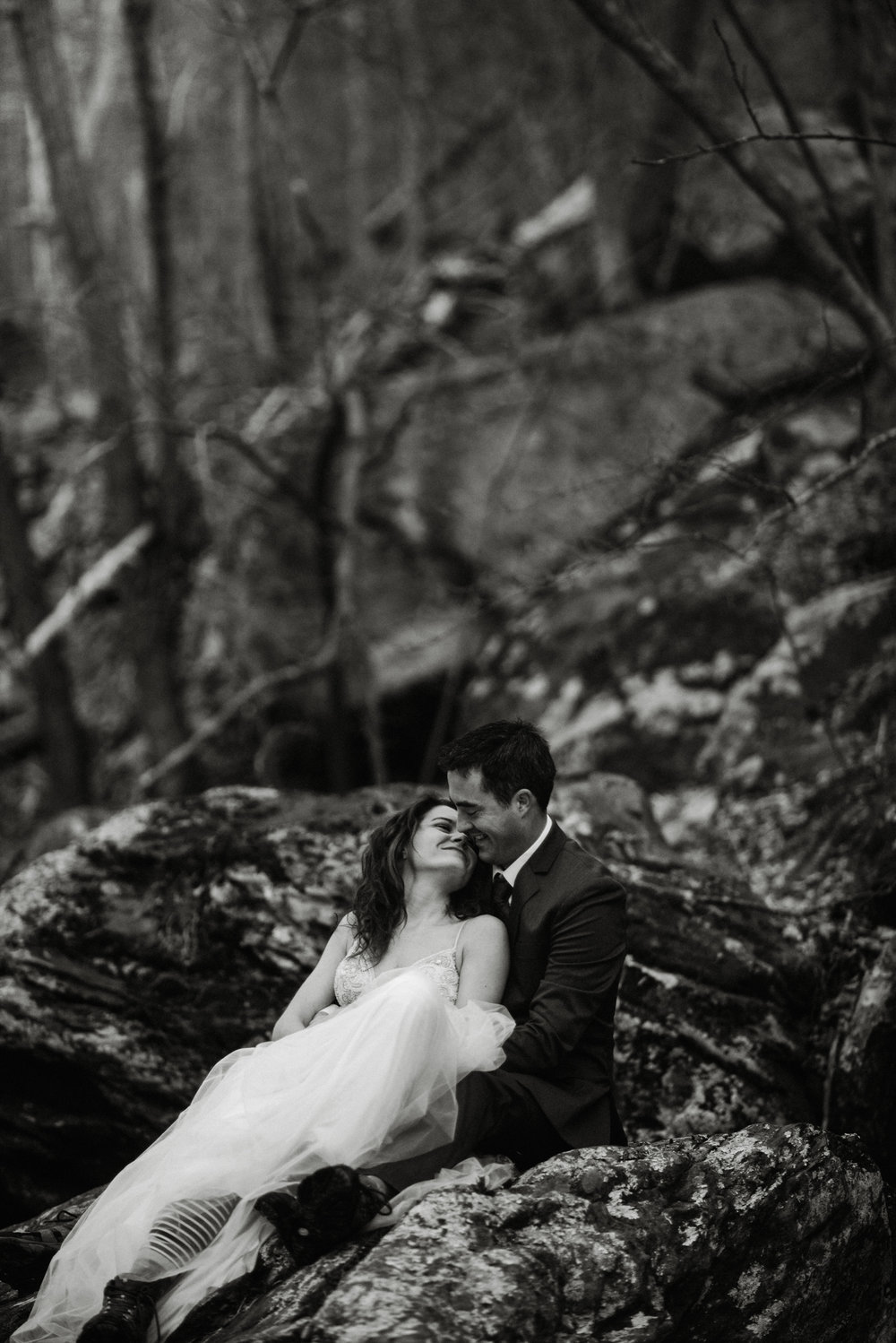 Stephanie and Steve - Shenandoah National Park Elopement - Sunrise Hiking Elopement - Adventurous Elopement - Virginia Elopement Photographer - Shenandoah national Park Wedding Photographer - White Sails Creative_35.jpg