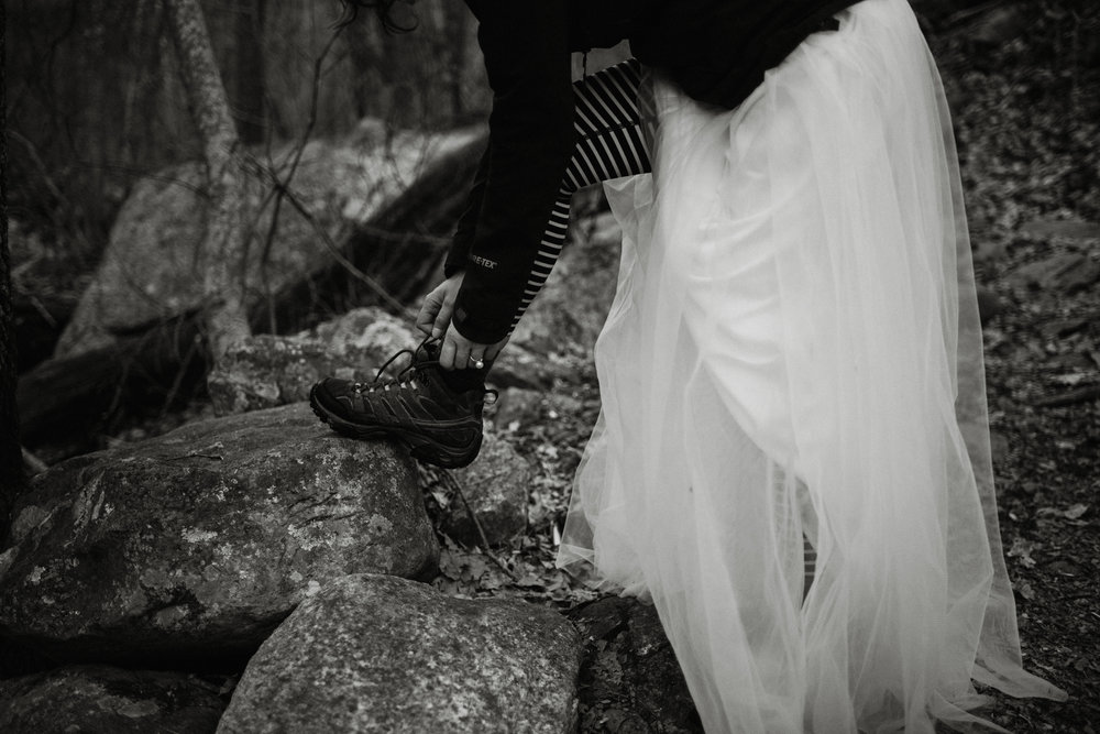 Stephanie and Steve - Shenandoah National Park Elopement - Sunrise Hiking Elopement - Adventurous Elopement - Virginia Elopement Photographer - Shenandoah national Park Wedding Photographer - White Sails Creative_36.jpg