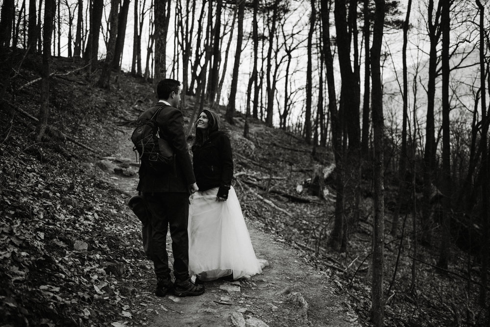 Stephanie and Steve - Shenandoah National Park Elopement - Sunrise Hiking Elopement - Adventurous Elopement - Virginia Elopement Photographer - Shenandoah national Park Wedding Photographer - White Sails Creative_38.jpg
