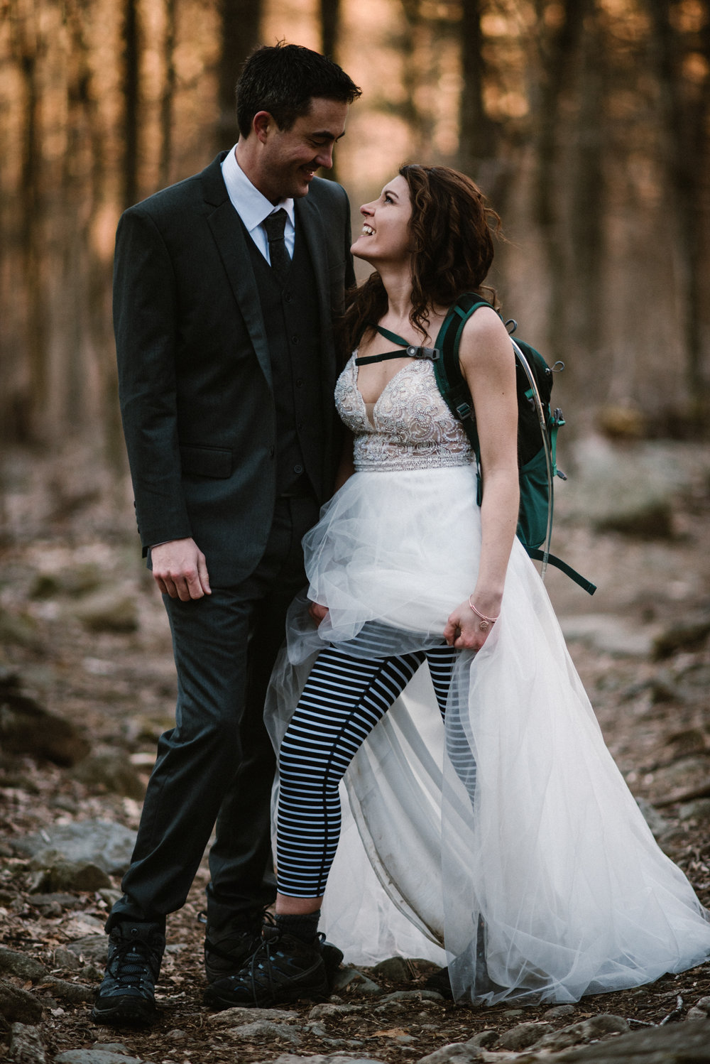Stephanie and Steve - Shenandoah National Park Elopement - Sunrise Hiking Elopement - Adventurous Elopement - Virginia Elopement Photographer - Shenandoah national Park Wedding Photographer - White Sails Creative_41.jpg