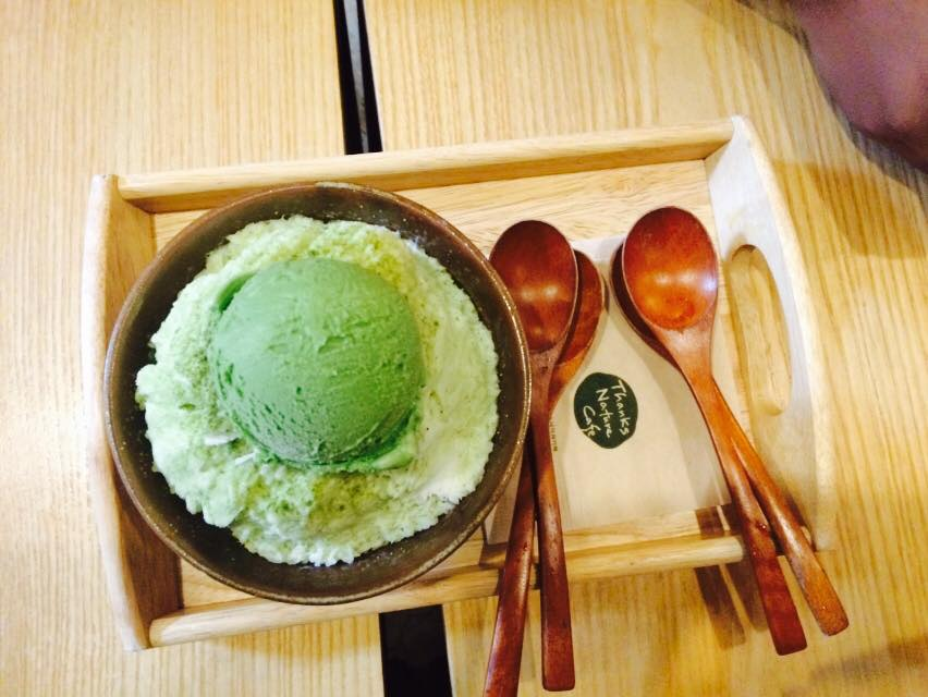 Green Tea Bingsu (shaved ice)