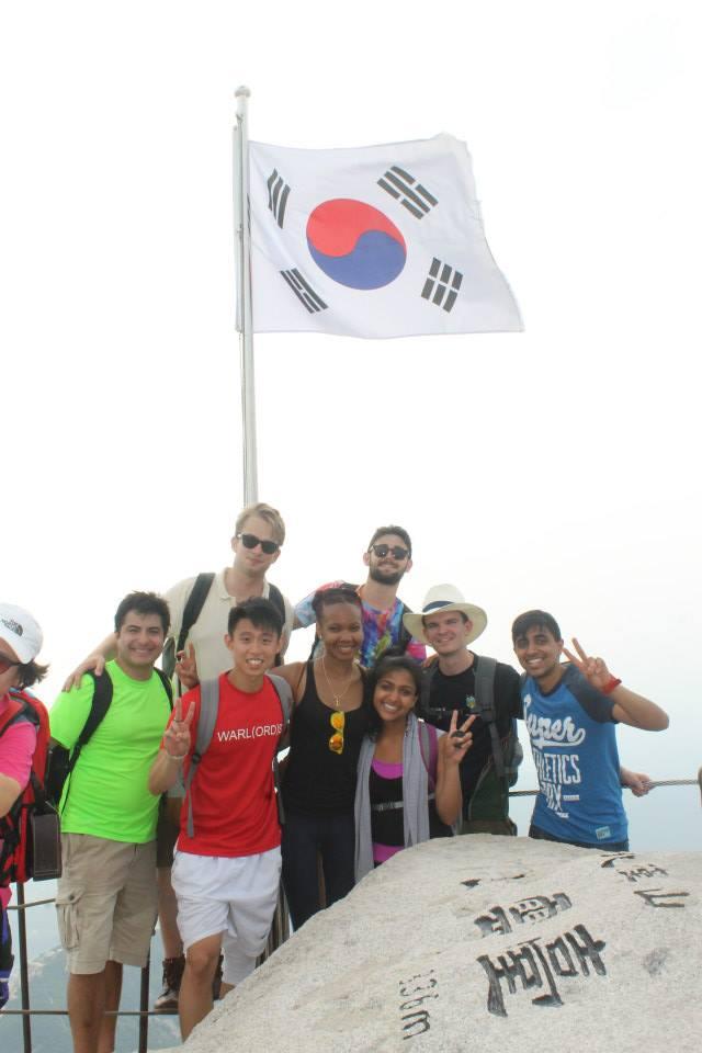 At the peak- 836 meters up