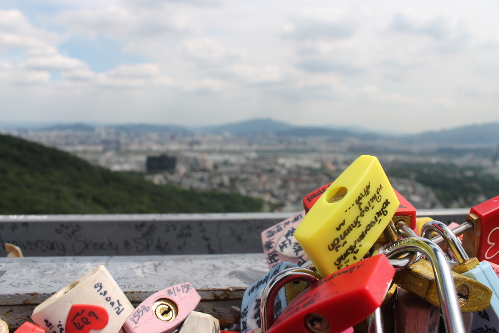 Love Locks on top of Seoul Tower