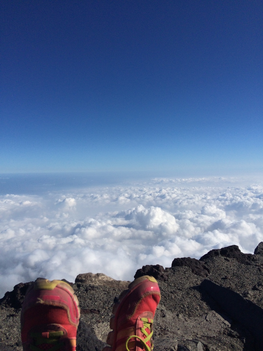 And this happened...Before we knew it we were above the clouds and everything felt and looked unreal.