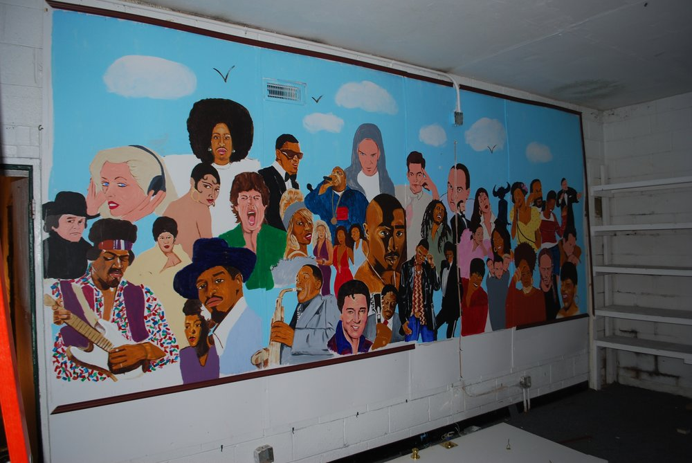 We salvaged this mural! It now resides in our conference room.