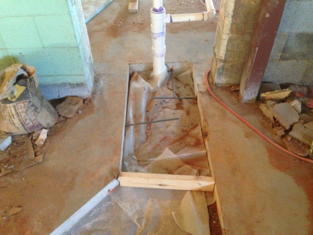 Redo plumbing...