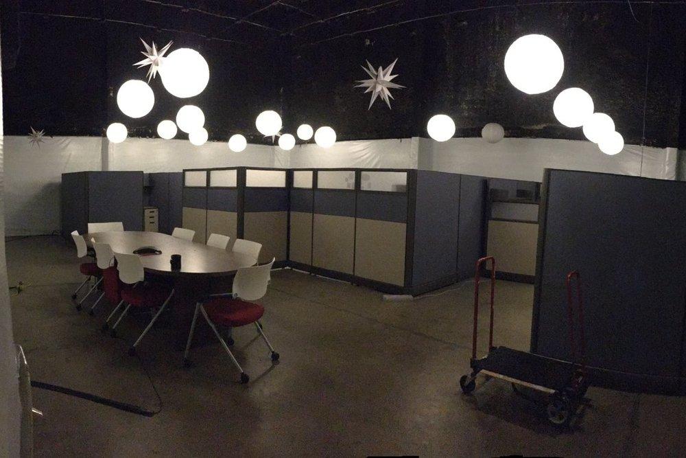 BEFORE: Temporary work space in Studio
