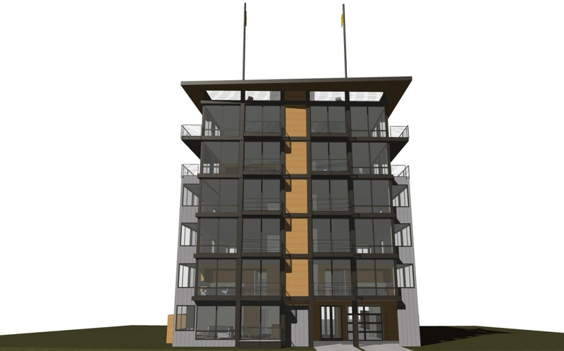 Concept rendering of The Pinnacle at Alki Condominiums