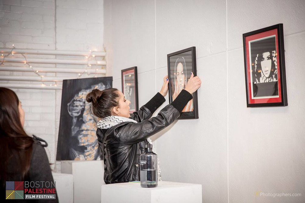 Displaying my artwork in the 2015 Palestinians Live Event