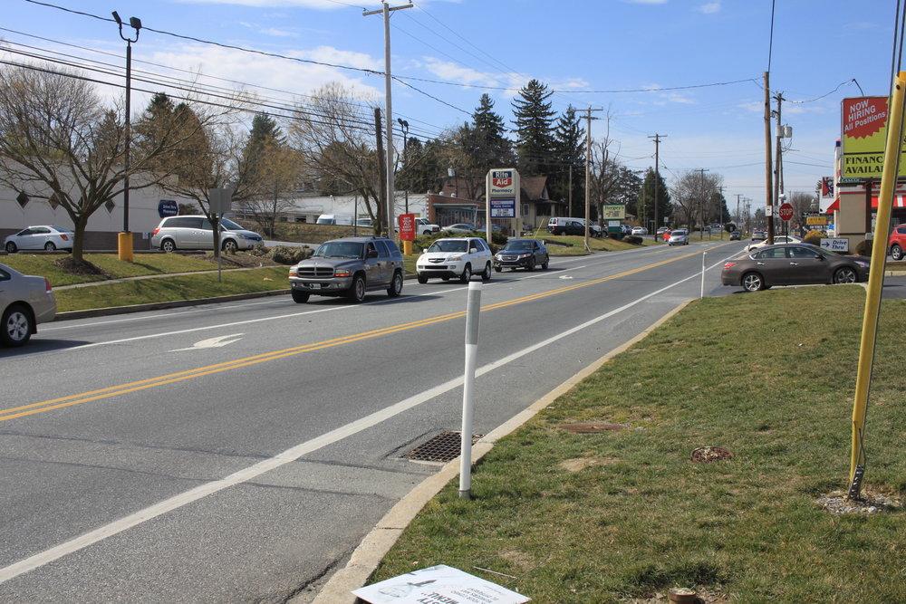limited strip development along rural roads