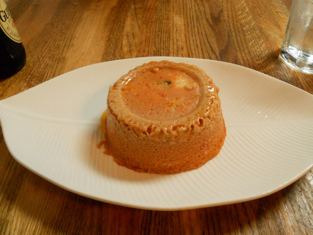 Moi moi, a Nigerian steamed bean pudding from Brooklyn's Buka restaurant.