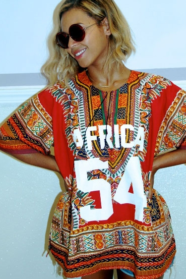 Beyoncé in a dashiki