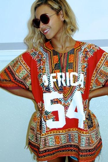 Beyoncé in a dashiki