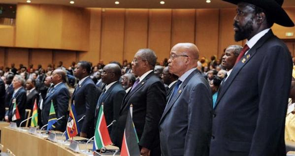 In this picture, there are at least two African leaders who risk prosecution by the ICC. Guess who?