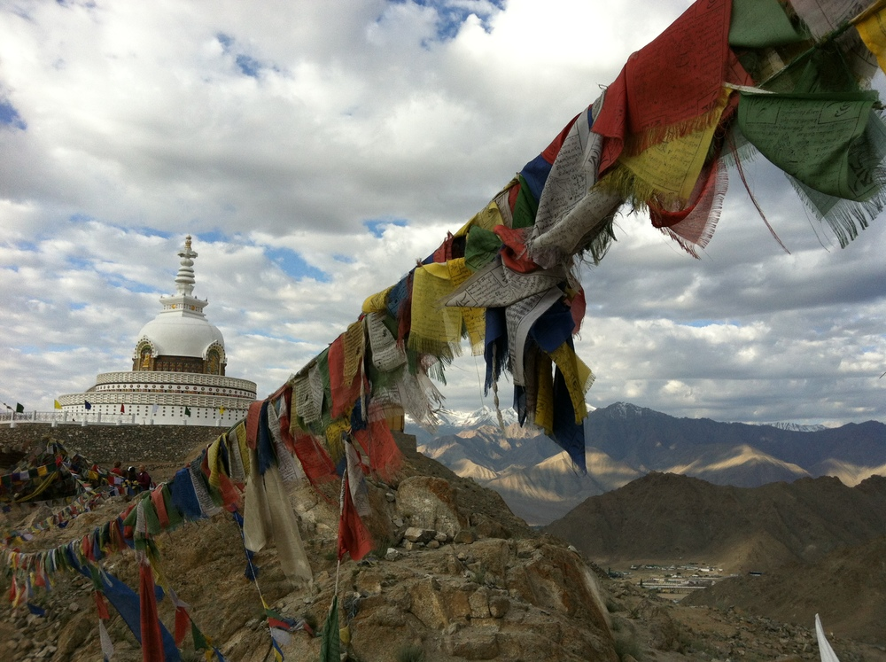 The Shanti Stupa in Ladakh, Northern India