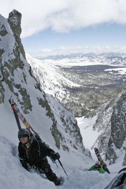 Climbing the Sickle Couloir, Sawtooth Mountains in Idaho