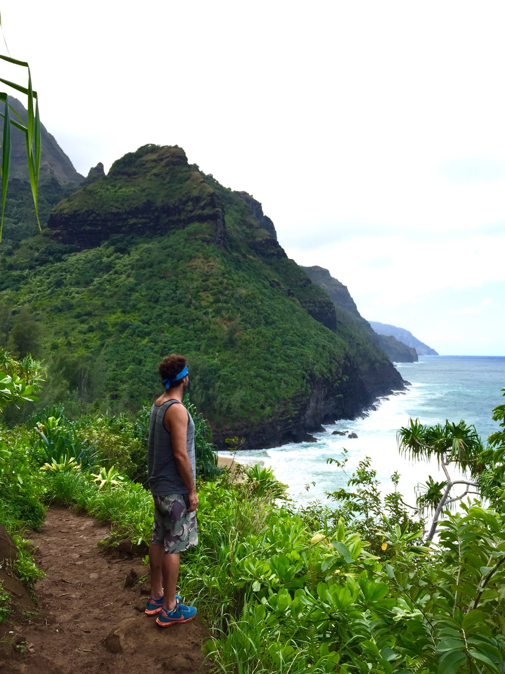 Trekking the Napali Coast, Kauai, Hawaii