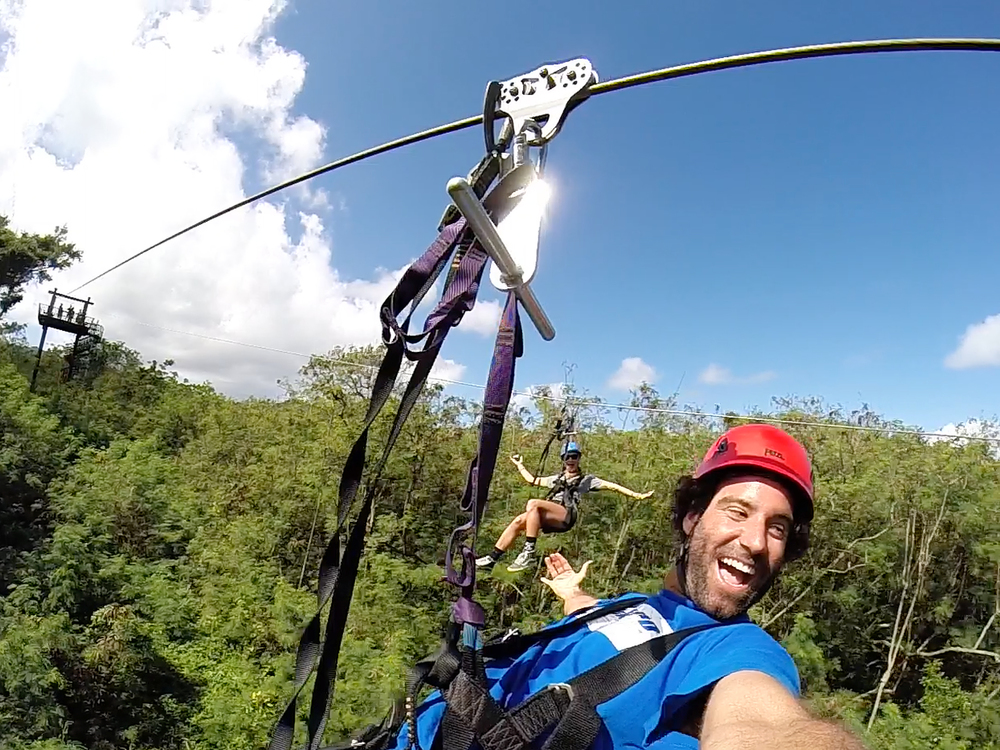 Ziplining Oahu's North Shore, Hawaii