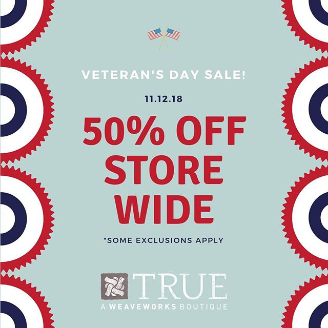 We are celebrating Veteran's Day this Monday! #weave #true #shopweave #fashionforacause #sacramentothrift #shopmidtown #exploremidtown